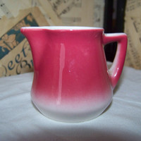 Vintage Syracuse China Creamer--101-J--Restaurant Ware--Syrup Pitcher--Nostalgic Charm--Ceramic--Dusty Rose Mauve--Retro Kitchenware