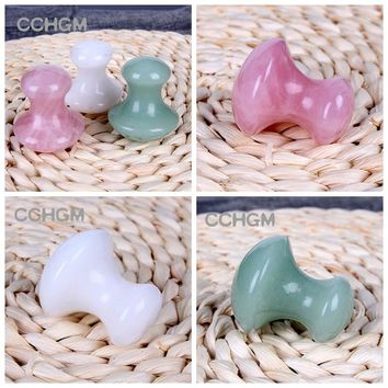 2017 Natural Green Aventurine rose quartz white jade Massage Relaxation Stone For Body Chakra Healing Crystal beads reiki Health