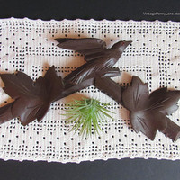 Salvaged Vintage Wood Bird Leaf Carving, Furiniture / Wall Accent