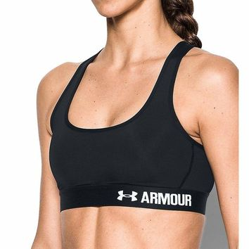 Under Armour Armour HeatGear Crossback Mid-Impact Sports Bra 1276503 XS Small Choose Color