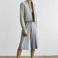 Silence + Noise Marled Drawstring Culotte Pant