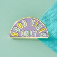 Good Vibes Only Enamel Pin