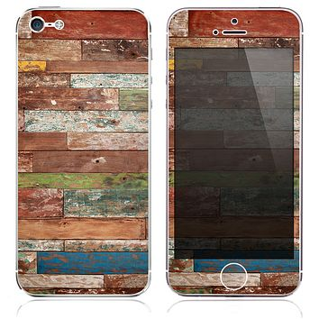 The Grungy Vintage Wood Planks Skin for the iPhone 3, 4-4s, 5-5s or 5c