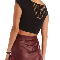Caged-Back Crop Top by Charlotte Russe