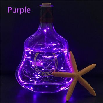 Wine Bottle Cork Shaped String Light 2m 20 LED Night Fairy Light Lamp Xmas for Christmas, Party,Wedding holiday decoration lamp