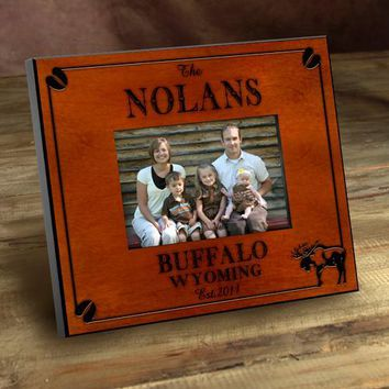 Cabin Series Picture Frames - Moose