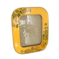 Vintage Enamel Frame, The Bucklers, Fifth Ave Oval, Swivel Back, Heavy Collectible Picture Frames
