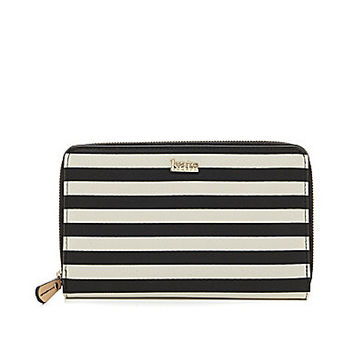 Kate Landry Cabana Travel Wallet - Black Dot