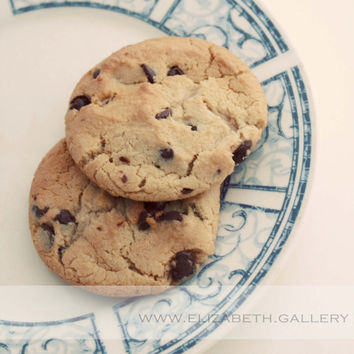 Cookie Photography - Chocolate Chip Cookies - Sweet Sugary Yum - Girls Bedroom Art- 8x10 Print