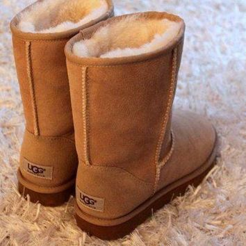 DCKKID4 UGG Woman Fashion Wool Snow Boots