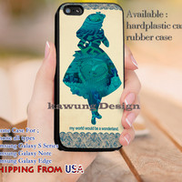 My World Alice in Wonderland iPhone 6s 6 6s+ 5c 5s Cases Samsung Galaxy s5 s6 Edge+ NOTE 5 4 3 #cartoon #anime #alice dl9