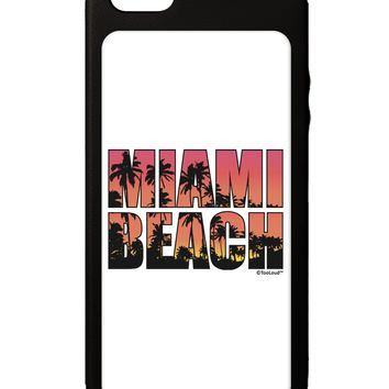 Miami Beach - Sunset Palm Trees iPhone 5C Grip Case  by TooLoud