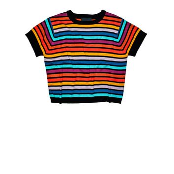 Cynthia Rowley - Short Sleeve Striped Sweater | Tops