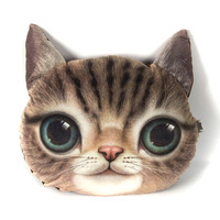 Cute Cat Face Cushion