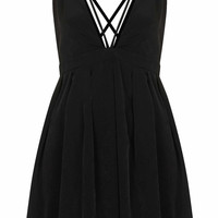 **STRAPPY DETAILED SKATER DRESS BY OH MY LOVE
