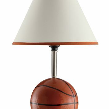 A.M.B. Furniture & Design :: Accessories :: Table Lamps :: Set of 2 Casual Style Baseball Table Lamps with White Fabric Shade