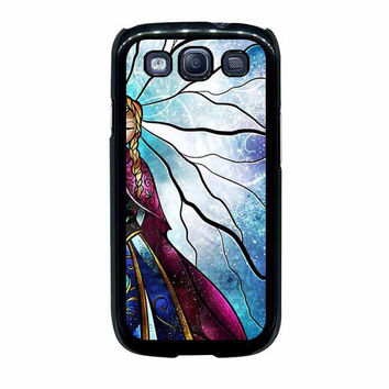 anna disney frozen stained glass couple samsung galaxy s3 s4 cases