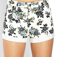 Neo-Grunge Floral Shorts