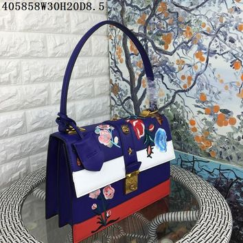 AUGUAU floral and animal embroidered patches GG replica women executive high quality  handbags