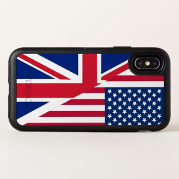 American and Union Jack Flag Apple iPhone X Case