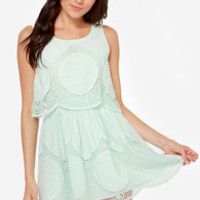 Laced and Found Mint Blue Dress