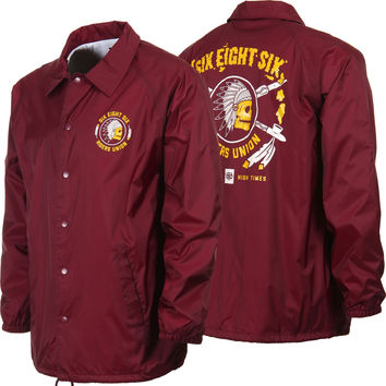 686 Riders Union Coaches Jacket - Burgundy