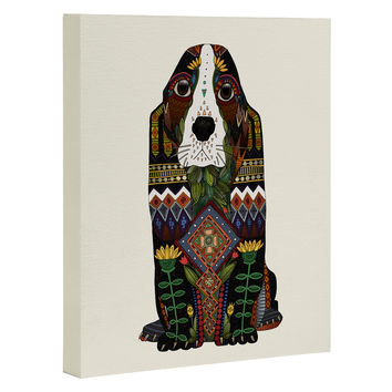 Sharon Turner Basset Hound love Art Canvas