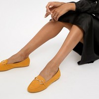 Accessorize heart trim loafer in mustard at asos.com