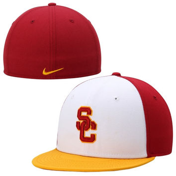 USC Trojans Nike True Color Block Fitted Hat – White