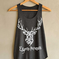 Deer Expecto Patronum  Harry Potter Spell Shirt Magic Spell Shirts Tank Top Women Size S M L