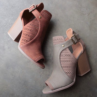 sweet talk perforated peep toe bootie (more colors)