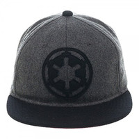 Star Wars Galactic Empire Logo Wool Flat Bill Strapback Hat