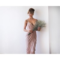 Blush Pink Maxi Wrap,  bridesmaid 1033