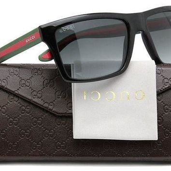 DCCK Authentic GUCCI GG1013/S Men Sunglasses Shiny Black w/Grey Gradient (051N) 1013/S 51N PT 56mm