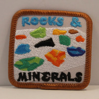 Rocks and Minerals Patch - scouting geology geologist rock hound collector shawshank kjallraven Hershel