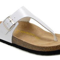 Birkenstock Como Sandals Leather White - Ready Stock