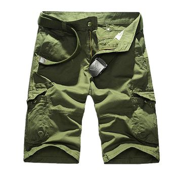Tactical Men's Working Half Pants Outdoor Male Riding Running Trekking Multi-Pocket Camping Military Trousers Overalls Shorts