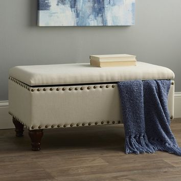 Oakford Upholstered Storage Bedroom Bench
