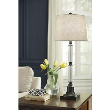 L430364 Arenda Glass Table Lamp (1/CN) - Bronze Finish/Clear - Free Shipping!