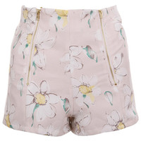 ROMWE | Zippered Light-Pink Shorts, The Latest Street Fashion