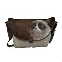 Grumpy Cat Glare Messenger Bag from Zazzle.com