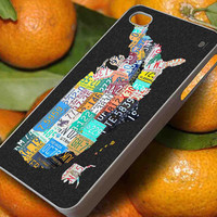 Case Phone - by blackkutil Map Of The United States Vintage License Plates case for iphone 5 iphone 6