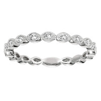 Eyelet Diamond Stackable Ring Steven Singer Jewelers