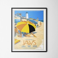 Jaws Movie Poster - Print Club
