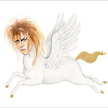 David Bowie From Labrynth As A Pegasus Print