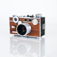 WOOD Argus C3 - Rangefinder Camera Restored In Mahogany film 35mm slr canon nikon polaroid diana image photo photography nikon vintage retro