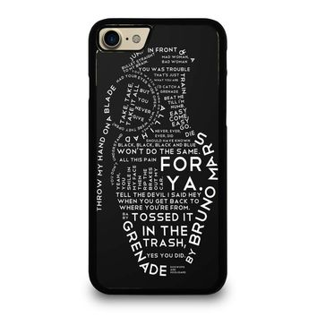 BRUNO MARS LYRICS Case for iPhone iPod Samsung Galaxy