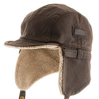 Best PILOT TROOPER Brown Shell AVIATOR Faux Leather Hat USHANKA Trapper Men and Women 7 1/8