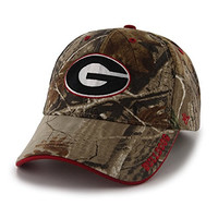 NCAA Georgia Bulldogs Frost Mvp Adjustable Hat, One Size, Realtree Camouflage