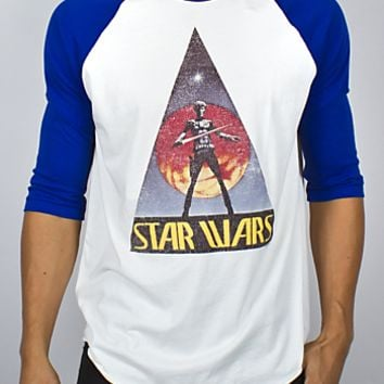 Star Wars 3/4 Sleeve Raglan - Men's Tops - Long Sleeve - Junk Food Clothing
